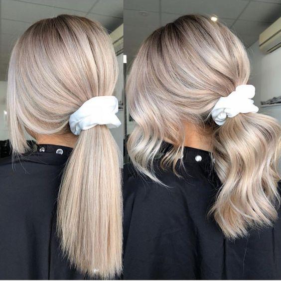 Inspiracja na blond włosy z warkoczem