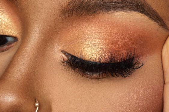 Pomarańczowy makijaż oka